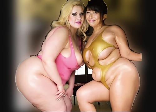 ■四十路・肉壷天国■デブを通り過ぎた肉塊ww白人・日本人の巨乳おっぱい、巨尻の人妻熟女おばさんと野外露出&乱交SEX!