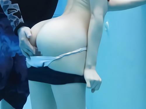 【プール監視員レイプ】「いやっ!やめてっ!」バイト中の美少女をプールの中でイタズラし、逃げた更衣室で貧乳おっぱい強姦凌辱!