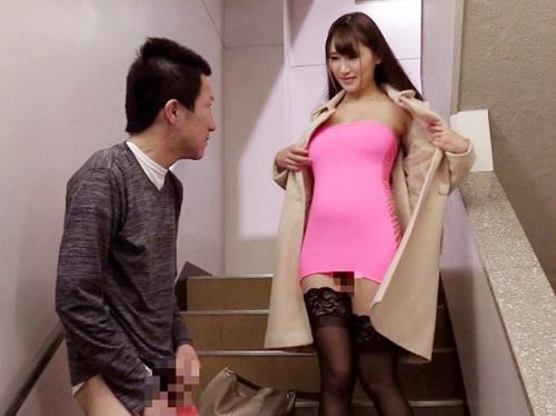 【超乳ボディコン痴女】「ねぇ♡私のケツの穴にぶっかけて♡」スレンダー巨乳おっぱいお姉さんが淫語イイながらアナルを披露ww