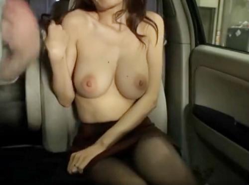 【ドラレコ不倫】「私も興奮してる…♡」スレンダー・ガリ巨乳おっぱいとピンク乳輪の美人人妻とNTRカーセックスが激エロ!