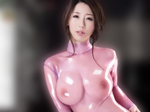 【巨乳痴女】「突いてっ♡♡」ピッチピチの特製のラテックススーツに身を包むスレンダー美乳おっぱいお姉さんの濃厚セックス!