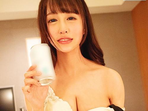 【お泊りセックス】「えっちぃ♡」スレンダー・ガリ巨乳おっぱい可愛いお姉さんと飲んで濃厚イチャラブSEXが抜けるエロ動画!