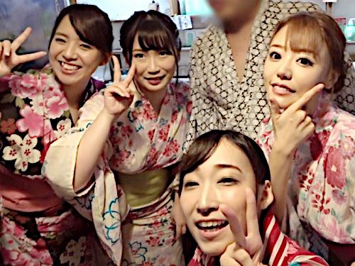 【逆ナンパ】「いっぱいしよ♡」温泉旅館でムチムチやスレンダーな巨乳おっぱいAV女優が一般宿泊客を誘って乱交しちゃうw