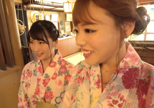 【逆ナンパ】「楽しいね♡」スレンダー巨乳おっぱいのAV女優が温泉旅館で一般客を誘って乱交セックスしちゃう!【浜崎真緒】