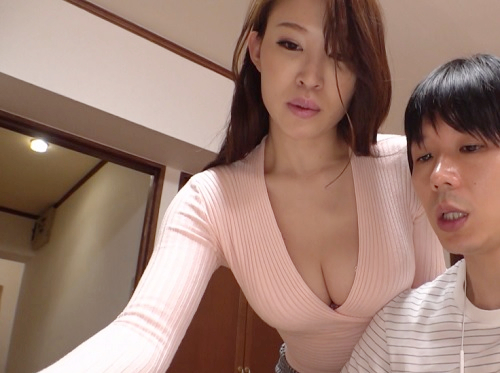 【義母NTR】「ママもしたいの・・・♡♡」スレンダー巨乳おっぱいの美魔女な人妻が義理の息子と膣内射精SEXして絶頂アクメ
