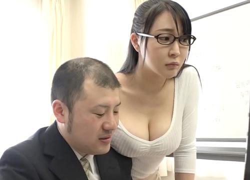 【超乳OL】「ちょっといい?♡」ムチムチ巨乳おっぱいのメガネ美人お姉さんが無意識誘惑してくるから着衣セックスに持ち込む!