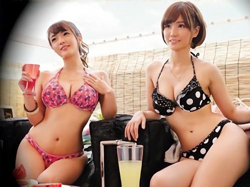 【連続射精・連続中出し】「また挿れるの?もぉ♡」海辺の居酒屋でナンパした巨乳おっぱいの水着素人ビッチギャルと乱交SEX!