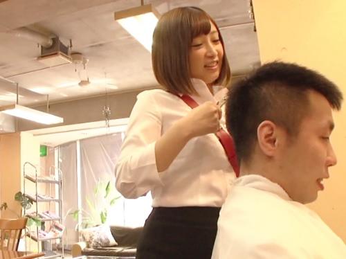【痴女美容師】「本日はありがとうございます♡」ショートカットのムチムチ巨乳おっぱい美容師さんが性接客で膣内射精SEX!